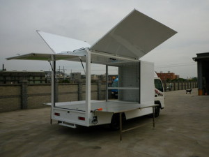 Gull-Wing Display Compartment