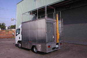 Air quality monitoring truck