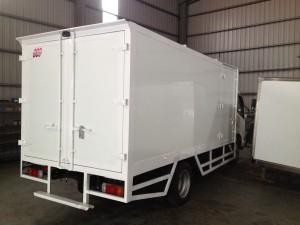FRP glass fiber cargo truck body