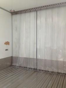 Rear door freezing curtain