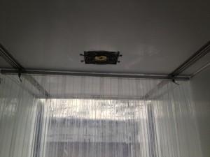 Sliding freezing door curtain